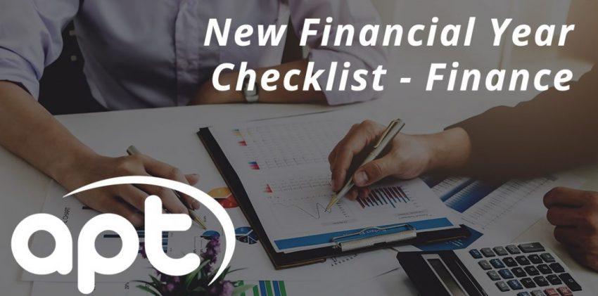 New Financial Year Checklist - Finance Edition