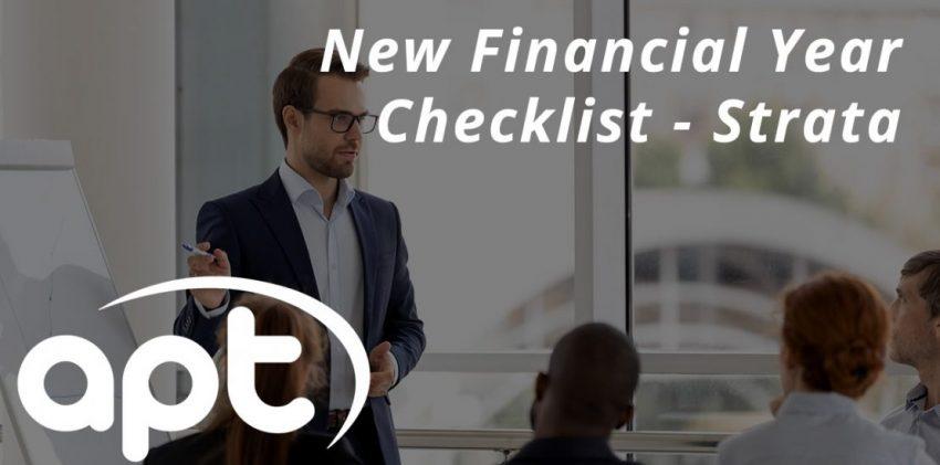 New Financial Year Checklist - Strata